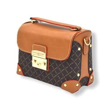 Εικόνα της Γυναικεία τσάντα χιαστί καφέ-ταμπά 171-181038