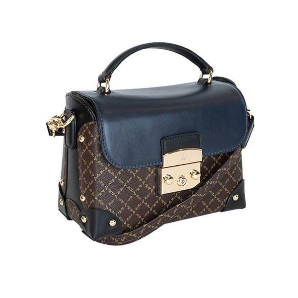 Εικόνα της  Γυναικεία τσάντα χιαστί μπλε-καφέ-μαύρο π 171-181038