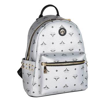 Εικόνα της  Γυναικεία τσάντα πλάτης με τρουκς Aσημί 36-181046-1Α
