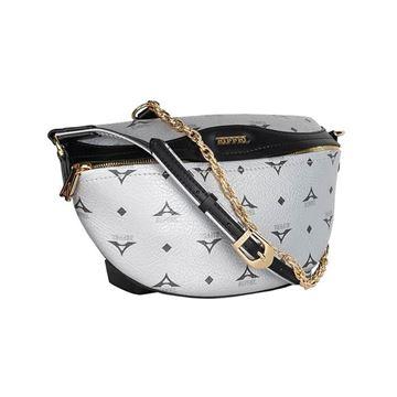 Εικόνα της  Γυναικεία τσάντα μέσης  ασημί 36-181015-1