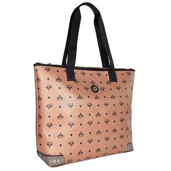Εικόνα της  Γυναικεία τσάντα ώμου ημιεπαγγελματική Μπρονζέ 36-122028-5C la tour eiffel