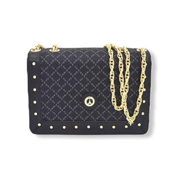 Εικόνα της  Μικρή γυναικεία τσάντα ώμου με αλυσίδα τρουκς μαύρο 171-171031-2Β la tour eiffel