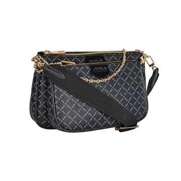 Εικόνα της Γυναικεία διπλή τσάντα χιαστή με ιμάντα και αλυσίδα μαύρο 171-201005-1 la tour eiffel