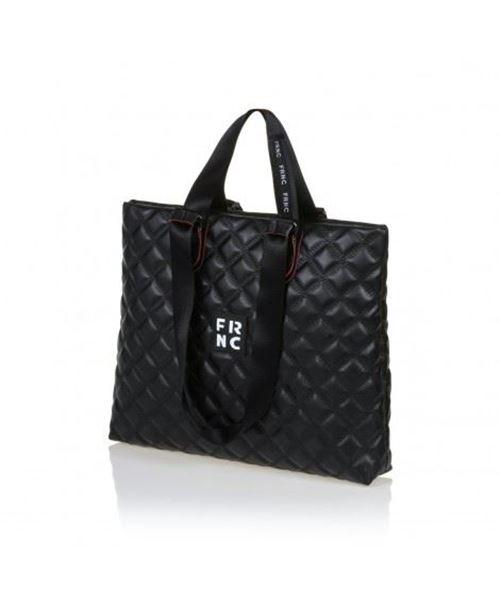 Εικόνα της Γυναικεία τσάντα ώμου FRNC 1295 μαύρο