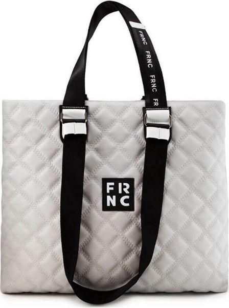 Εικόνα της  Γυναικεία τσάντα ώμου FRNC 1295 γκρι