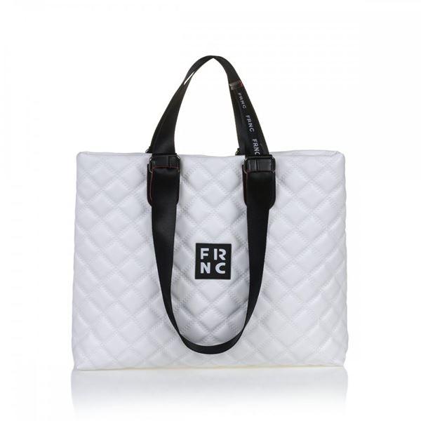 Εικόνα της  Γυναικεία τσάντα ώμου FRNC 1295 άσπρο