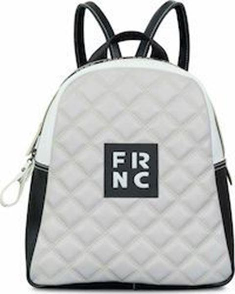 Εικόνα της Γυναικεία τσάντα πλάτης FRNC 1202Κ γκρι-μαύρο -άσπρο