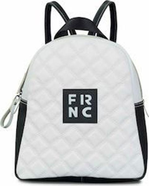 Εικόνα της Γυναικεία τσάντα πλάτης FRNC 1202Κ άσπρο-μαύρο -