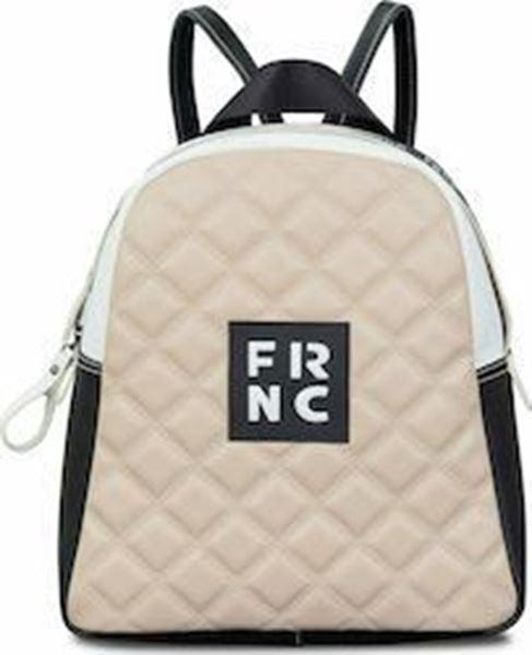 Εικόνα της  Γυναικεία τσάντα πλάτης FRNC 1202Κ μπεζ-μαύρο -