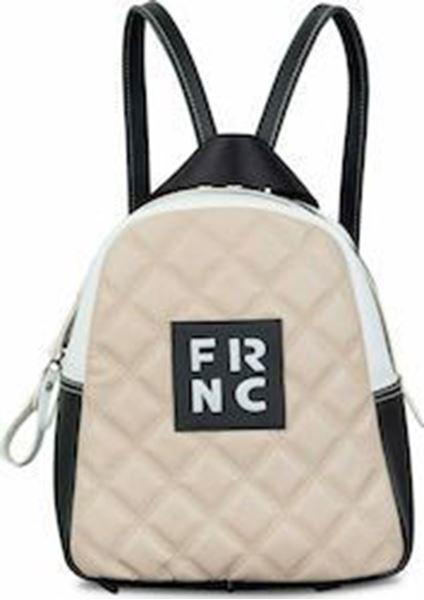 Εικόνα της  Γυναικεία τσάντα πλάτης FRNC 1201Κ nude-μαύρο -