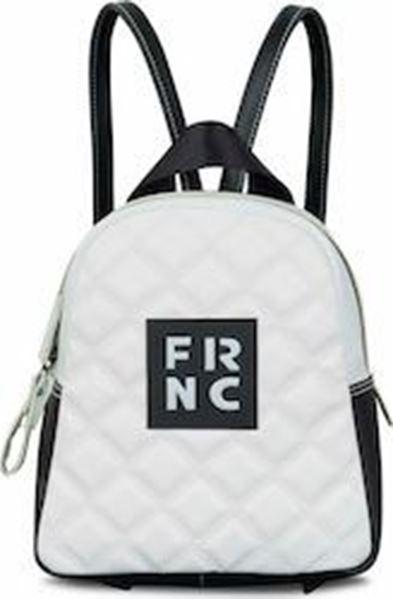 Εικόνα της  Γυναικεία τσάντα πλάτης FRNC 1201Κ άσπρο -μαύρο -