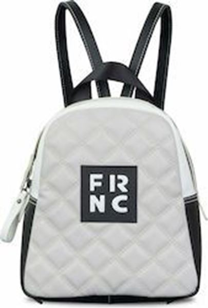 Εικόνα της Γυναικεία τσάντα πλάτης FRNC 1201Κ γκρι -μαύρο -