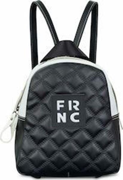Εικόνα της  Γυναικεία τσάντα πλάτης FRNC 1201Κ  -μαύρο-άσπρο -