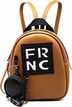 Εικόνα της Γυναικεία τσάντα πλάτης FRNC 1672 ταμπά