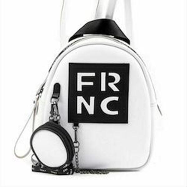 Εικόνα της Γυναικεία τσάντα πλάτης FRNC 1672 άσπρο