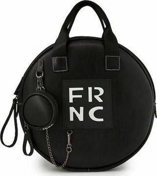 Εικόνα της  Γυναικεία τσάντα χειρός-χιαστή FRNC 1673 μαύρο