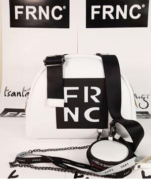 Εικόνα της  Γυναικεία τσάντα χιαστή FRNC 1671 άσπρο