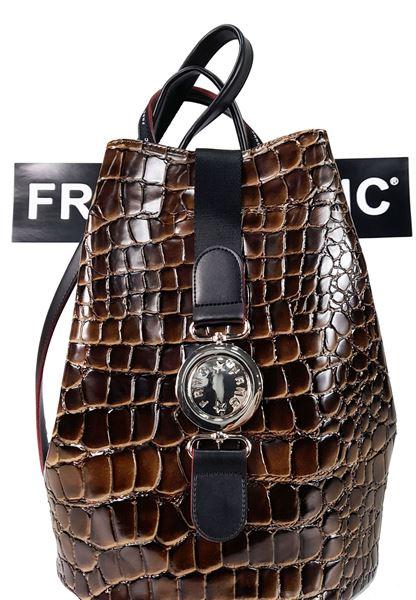 Εικόνα της  Γυναικεία τσάντα πλάτης FRNC 1414 croco brown