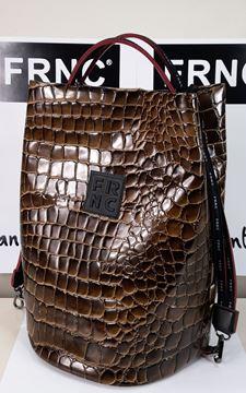 Εικόνα της Γυναικεία τσάντα  FRNC πολυμορφική ώμου 1421 croco brown