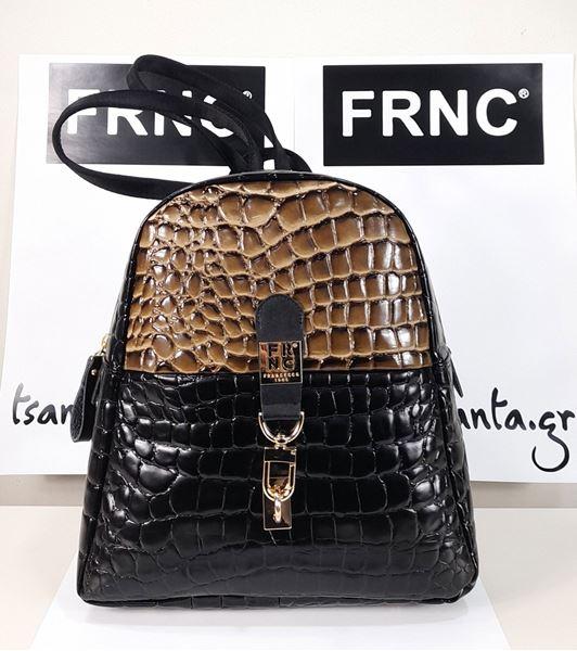 Εικόνα της  Γυναικεία τσάντα χιαστή FRNC  1431 black-brown