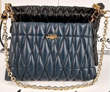 Εικόνα της  Γυναικεία τσάντα διπλή πολυμορφική χιαστή FRNC 3022 πετρόλ μαύρη