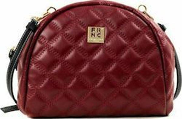 Εικόνα της Γυναικεία τσάντα χιαστή FRNC WAL043 bordeaux
