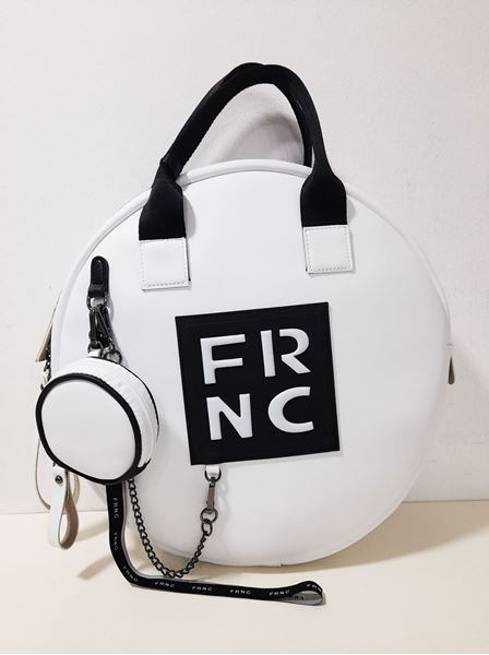 Εικόνα της  Γυναικεία τσάντα χειρός-χιαστή FRNC 1673 άσπρο