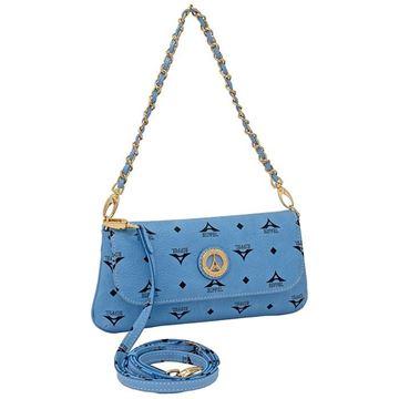 Εικόνα της Μικρή γυναικεία τσάντα πολυμορφική σιελ 36-8910EX
