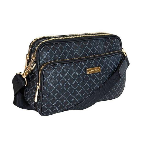 Εικόνα της Γυναικεία τσάντα χιαστί μαύρη 171-112018-3 la tour eiffel