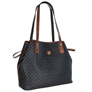 Εικόνα της Γυναικεία τσάντα ώμου ΜΑΥΡΟ-ΚΑΦΕ 171-171034-2Ε la tour eiffel