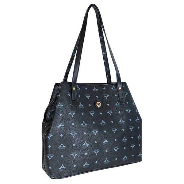 Εικόνα της  Γυναικεία τσάντα ώμου μαύρο 36-171034-2Ε la tour eiffel