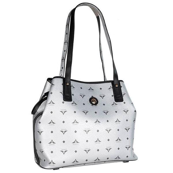 Εικόνα της  Γυναικεία τσάντα ώμου ασημί 36-171034-2Ε la tour eiffel