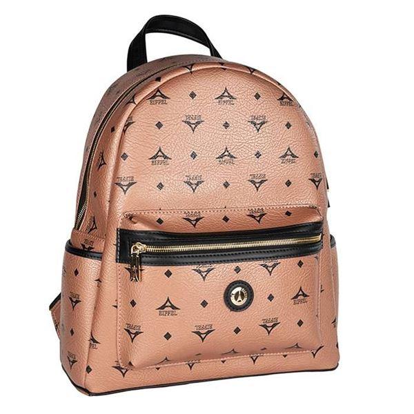 Εικόνα της Γυναικεία  μεγάλη τσάντα πλάτης μπρονζέ 36-142030-3