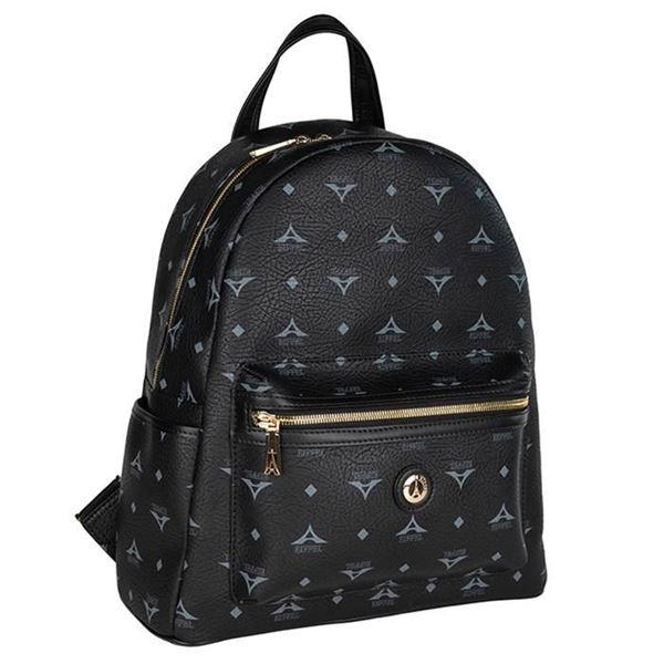 Εικόνα της  Μεγάλη γυναικεία τσάντα πλάτης Μαύρο 36-142030-3