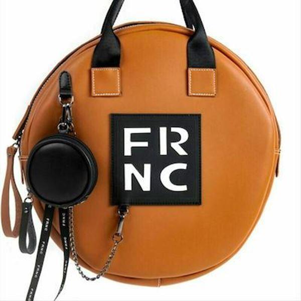 Εικόνα της Γυναικεία τσάντα χειρός-χιαστή FRNC 1673 ταμπά