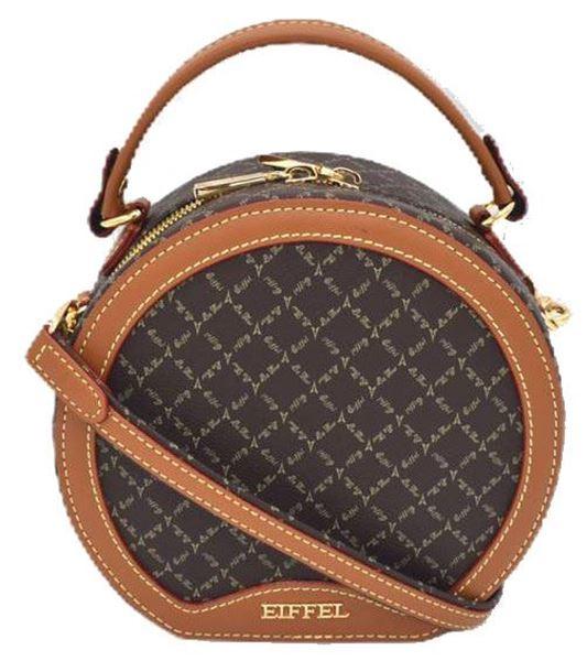 Εικόνα της  Γυναικεία τσάντα χειρός/χιαστί καφέ 171-201012-1