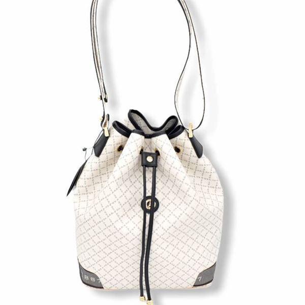 Εικόνα της Γυναικεία τσάντα ώμου πουγκί ΑΣΠΡΗ 171-10495-6