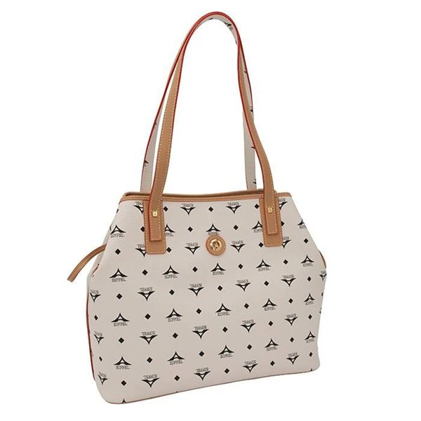 Εικόνα της  Γυναικεία τσάντα ώμου εκρού 36-171034-2Ε la tour eiffel