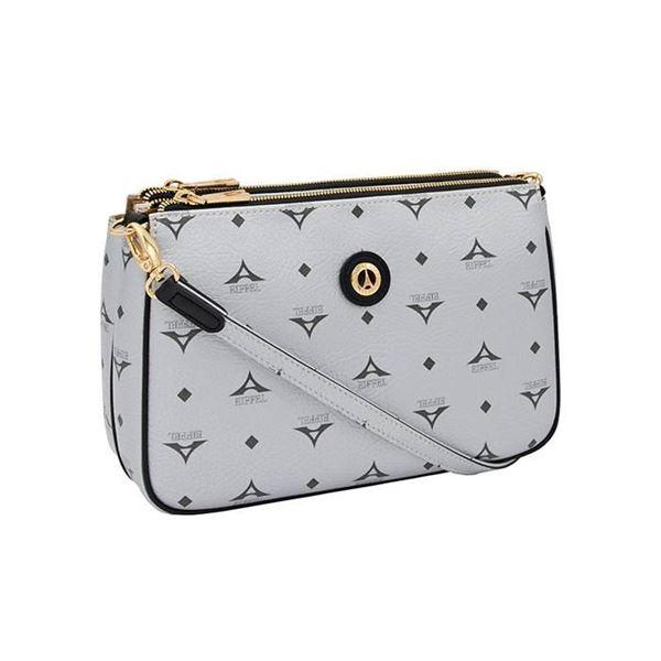 Εικόνα της  Γυναικεία τσάντα χιαστί ασημί 36-111090-4Ε