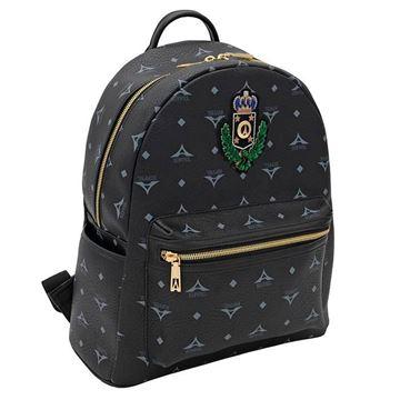 Εικόνα της Μεγάλη γυναικεία τσάντα πλάτης με οικόσημο 36-142030-3ZH ΜΑΥΡΟ