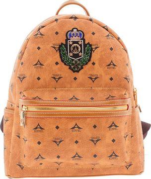 Εικόνα της  Μεγάλη γυναικεία τσάντα πλάτης με οικόσημο 36-142030-3ZH ταμπά