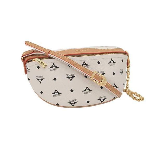 Εικόνα της   Γυναικεία τσάντα μέσης  εκρού 36-181015-1