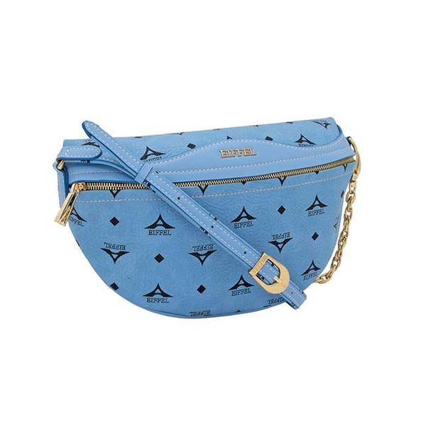 Εικόνα της   Γυναικεία τσάντα μέσης  σιέλ 36-181015-1