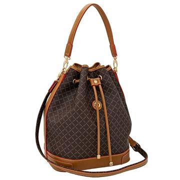 Εικόνα της Μεγάλη γυναικεία τσάντα ώμου πουγκί ΚΑΦΕ 171-10075L