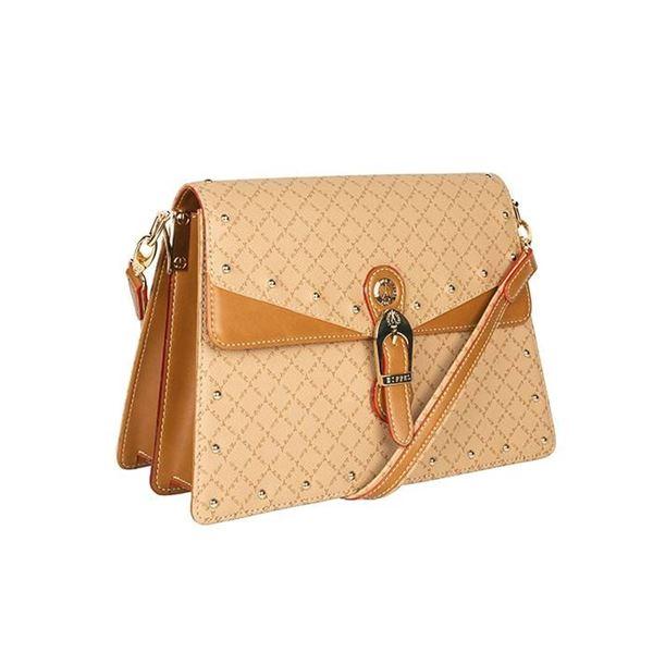 Εικόνα της Γυναικεία τσάντα ώμου μπεζ με τρουκς 171033-5