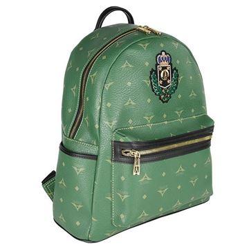 Εικόνα της Μεγάλη γυναικεία τσάντα πλάτης με οικόσημο 36-142030-3ZH πράσινη