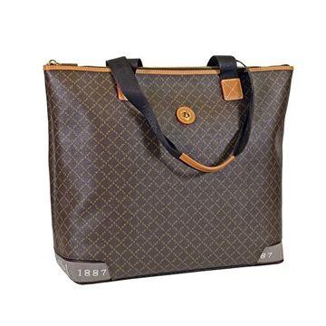 Εικόνα της   Μεγάλη γυναικεία τσάντα ώμου ημιεπαγγελματική καφέ 171-122028-5 La Tour Eiffel